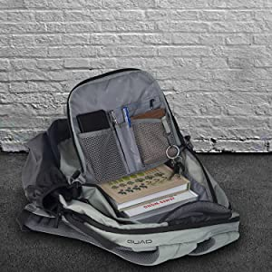 Quad Backpack Storage Space